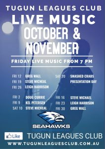 Live Music – October & November