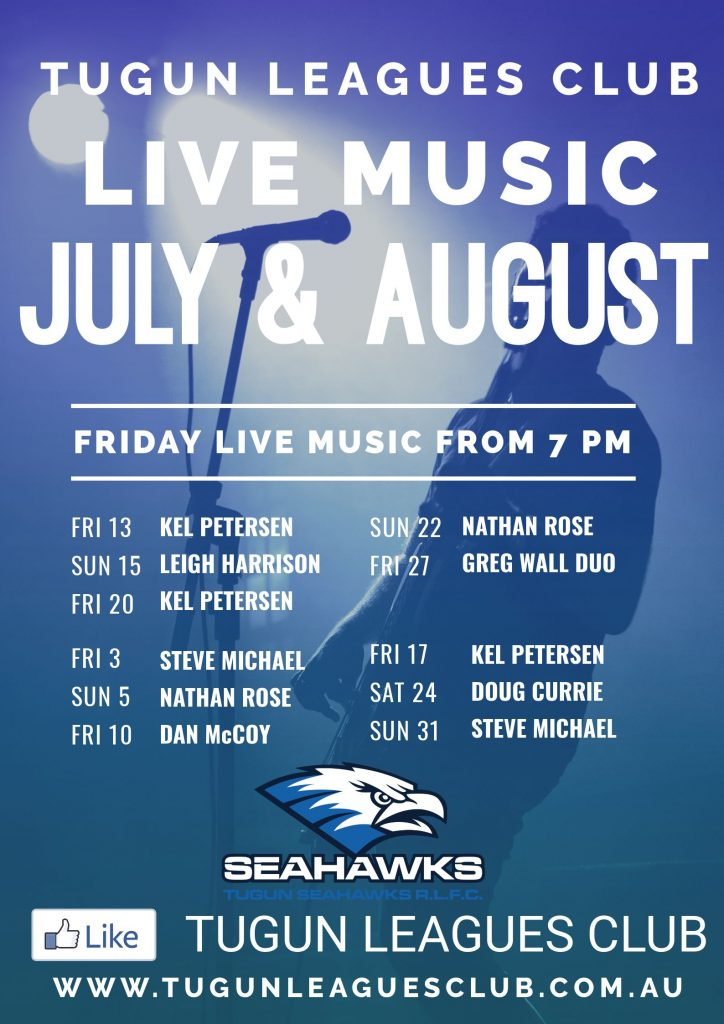 Live Music – July & August